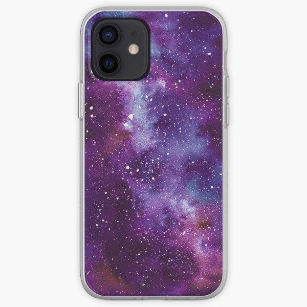Nébuleuse de l'Espace Profond Galaxy pourpre Coque souple iPhone