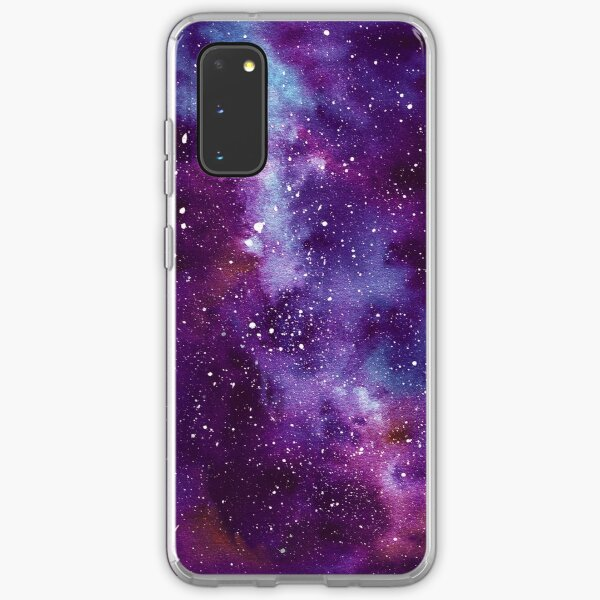 Purple Galaxy Deep Space Nebula Samsung Galaxy Soft Case