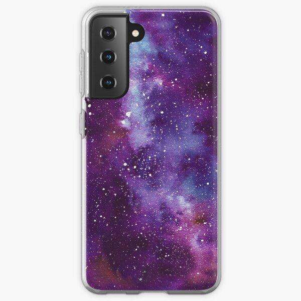 Nébuleuse de l'Espace Profond Galaxy pourpre Coque souple Samsung Galaxy
