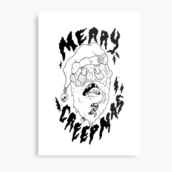 Merry Creepmas! Metal Print