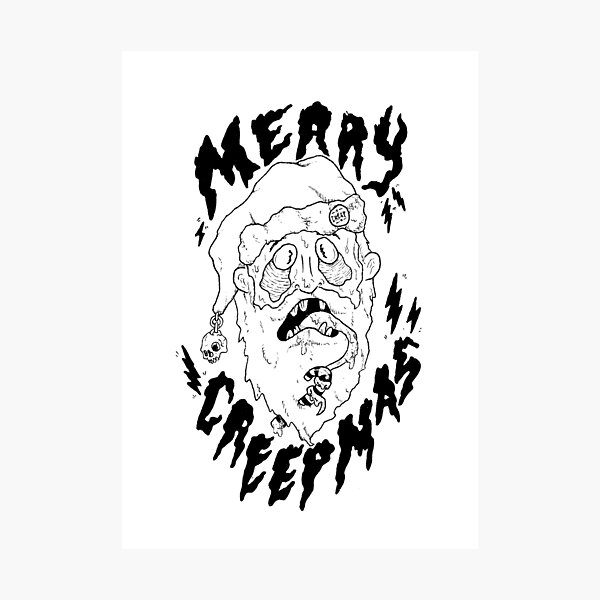 Merry Creepmas! Photographic Print