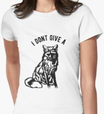 I dont give a Fox Women's Fitted T-Shirt