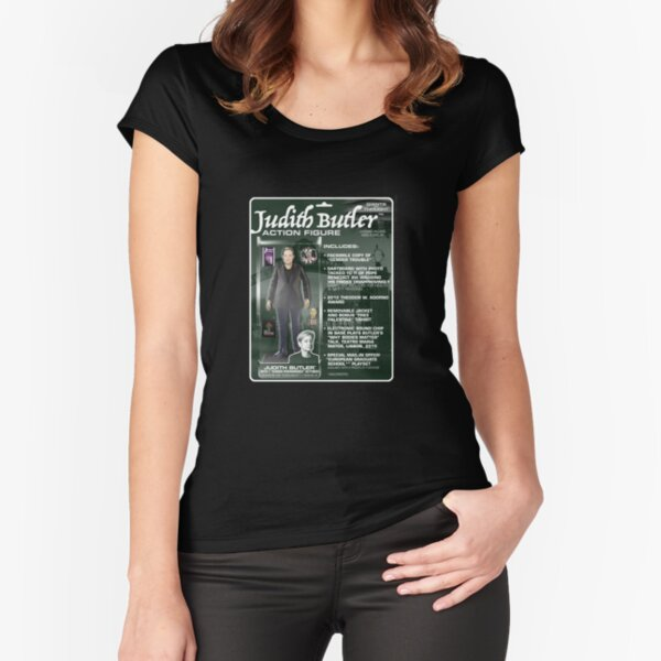 Judith Butler Action Figure Fitted Scoop T-Shirt