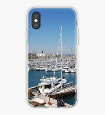 Port Olimpic marina, Barcelona iPhone Case