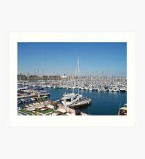 Port Olimpic marina, Barcelona Art Print