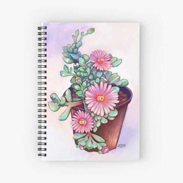 Succulents and flowers Cuaderno de espiral