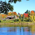Across the River to Fort Western Augusta Maine by AnnDixon