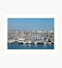 Port Olimpic in Barcelona Art Print