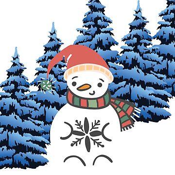 I'm a snowman  by fonzyhappydays