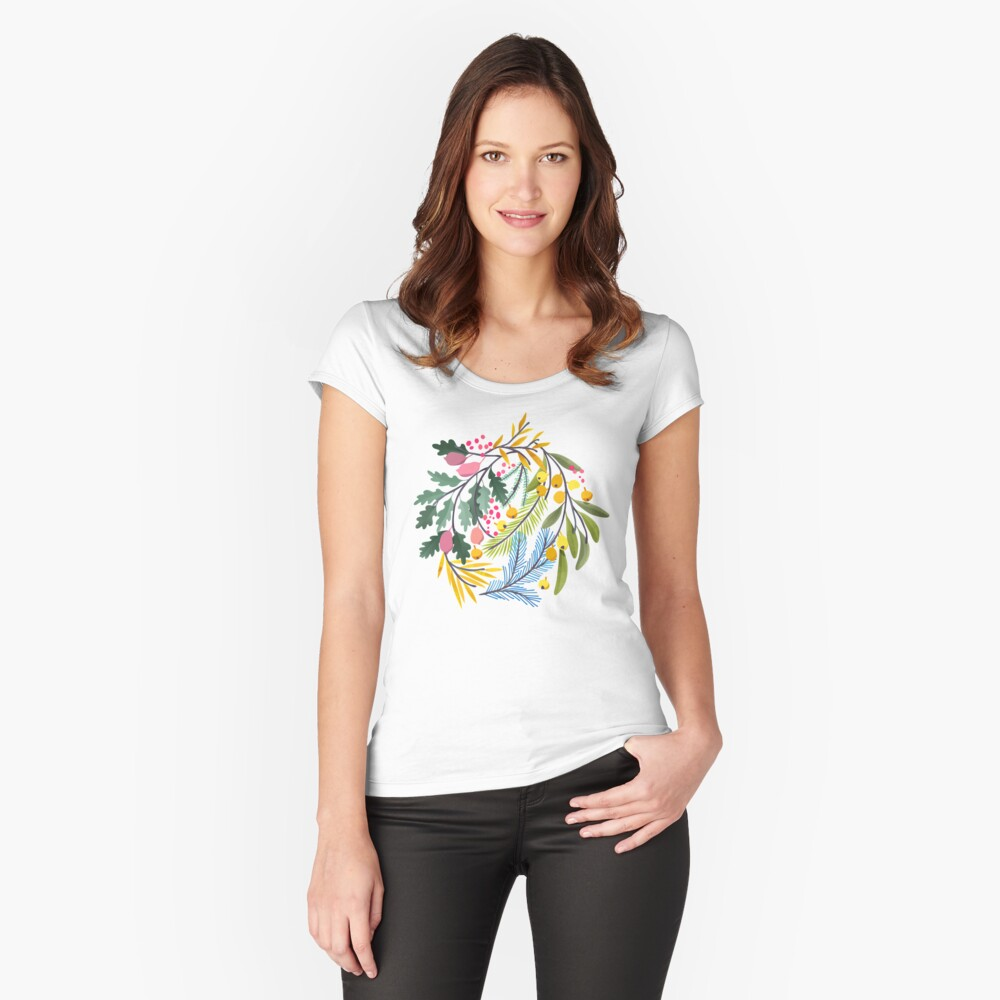 Fairy's garden Fitted Scoop T-Shirt
