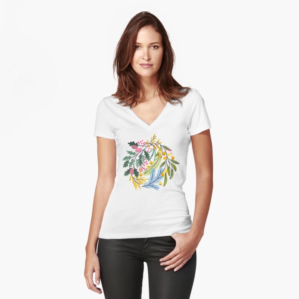 Fairy's garden Fitted V-Neck T-Shirt