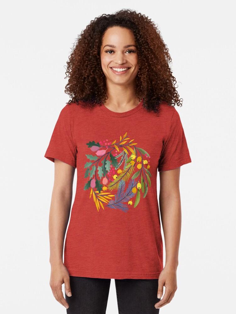 Alternate view of Fairy's garden Tri-blend T-Shirt