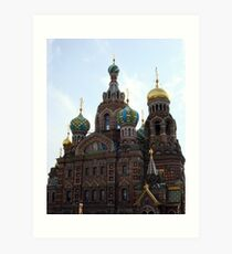 The Church of the Savior on Spilled Blood. Art Print