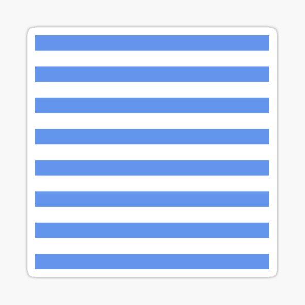 Light Blue and White Horizontal Stripes Sticker