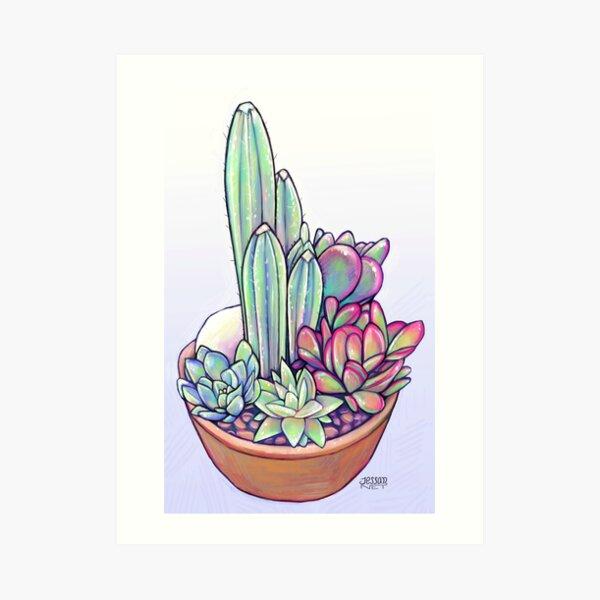 Cactus & Suculentas Lámina artística