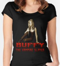 buffy the vampire slayer t shirt Women's Fitted Scoop T-Shirt