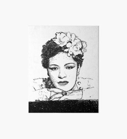 Jazz Singer Billy Holiday pointillism Art Board Print