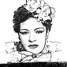 Jazz Singer Billy Holiday pointillism by tqueen