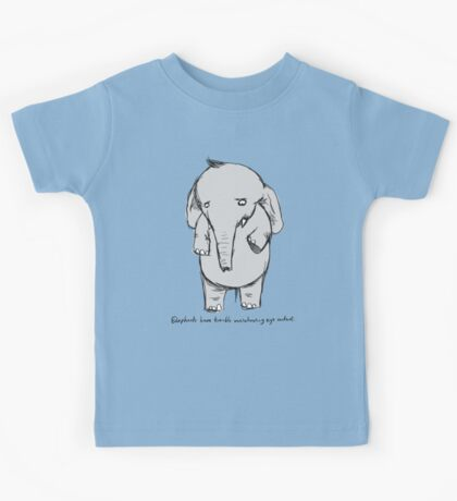 elephants have trouble maintaining eye contact Kids Clothes