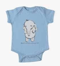 elephants have trouble maintaining eye contact One Piece - Short Sleeve
