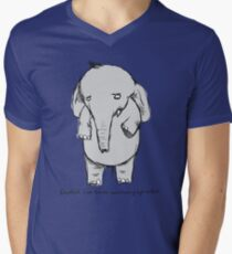 elephants have trouble maintaining eye contact Men's V-Neck T-Shirt