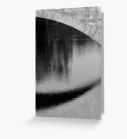 Impression of a river scene Greeting Card