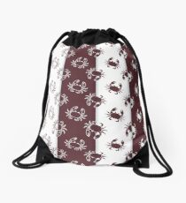 Set of 4 vector seamless pattern with crabs. Drawstring Bag