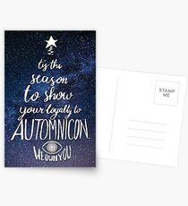Automnicon Brucemas Card Postcards