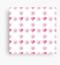 Seamless pattern with hearts. Valentine's Day Canvas Print