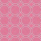 Drop Ripples - Hand Drawn Geometric Pattern (Pink) by mariomartin
