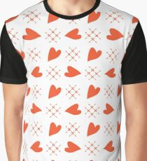 Seamless pattern with hearts. Valentine's Day Graphic T-Shirt