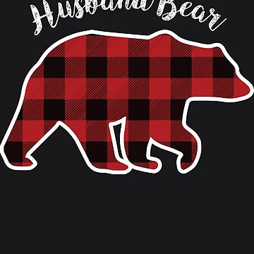 HUSBAND BEAR | Men Red Plaid Christmas Pajama Family Gift by melsens