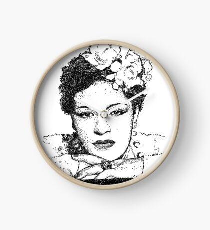 Jazz Singer Billy Holiday pointillism Clock