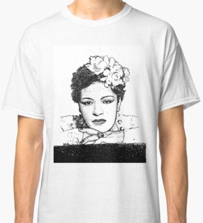 Jazz Singer Billy Holiday pointillism Classic T-Shirt