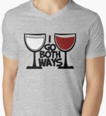 Red wine and white wine drinker Men's V-Neck T-Shirt