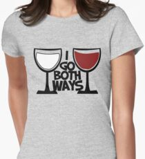 Red wine and white wine drinker Women's Fitted T-Shirt