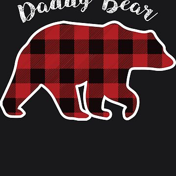 Daddy BEAR | Men Red Plaid Christmas Pajama Family Dad Gift by melsens