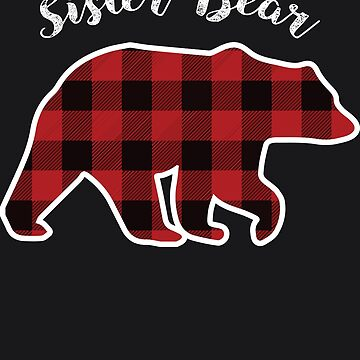 SISTER BEAR | Women Red Plaid Christmas Pajama Family Gift by melsens