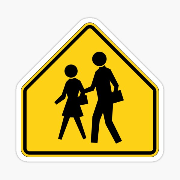 Pedestrian Crossing Sign Sticker