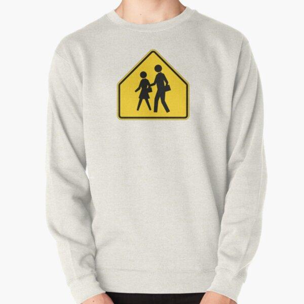 Pedestrian Crossing Sign Pullover Sweatshirt