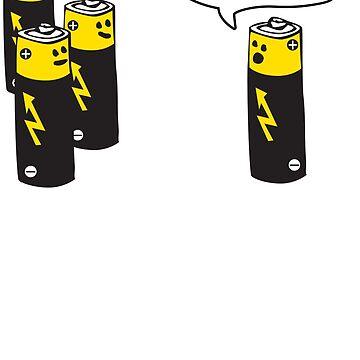 Aa Battery Meeting Funy T-Shirt Tee by maikel38
