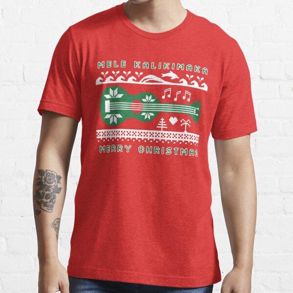 Mele Kalikimaka Green Ugly Christmas Sweater Essential T-Shirt