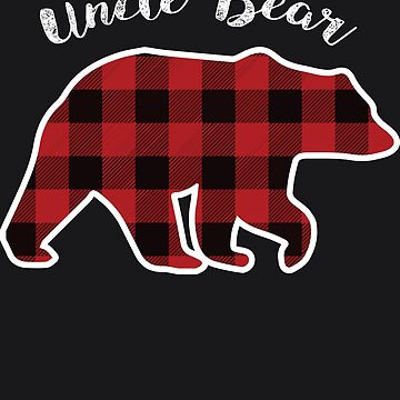 UNCLE BEAR | Men Red Plaid Christmas Pajama Family Gift by melsens