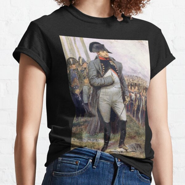 Napoleon. Vertreten in seiner Oberstuniform des Chasseur à Cheval der kaiserlichen Garde. Classic T-Shirt