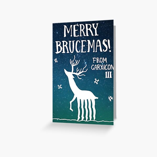 Merry Brucemas from Garxicon III Greeting Card