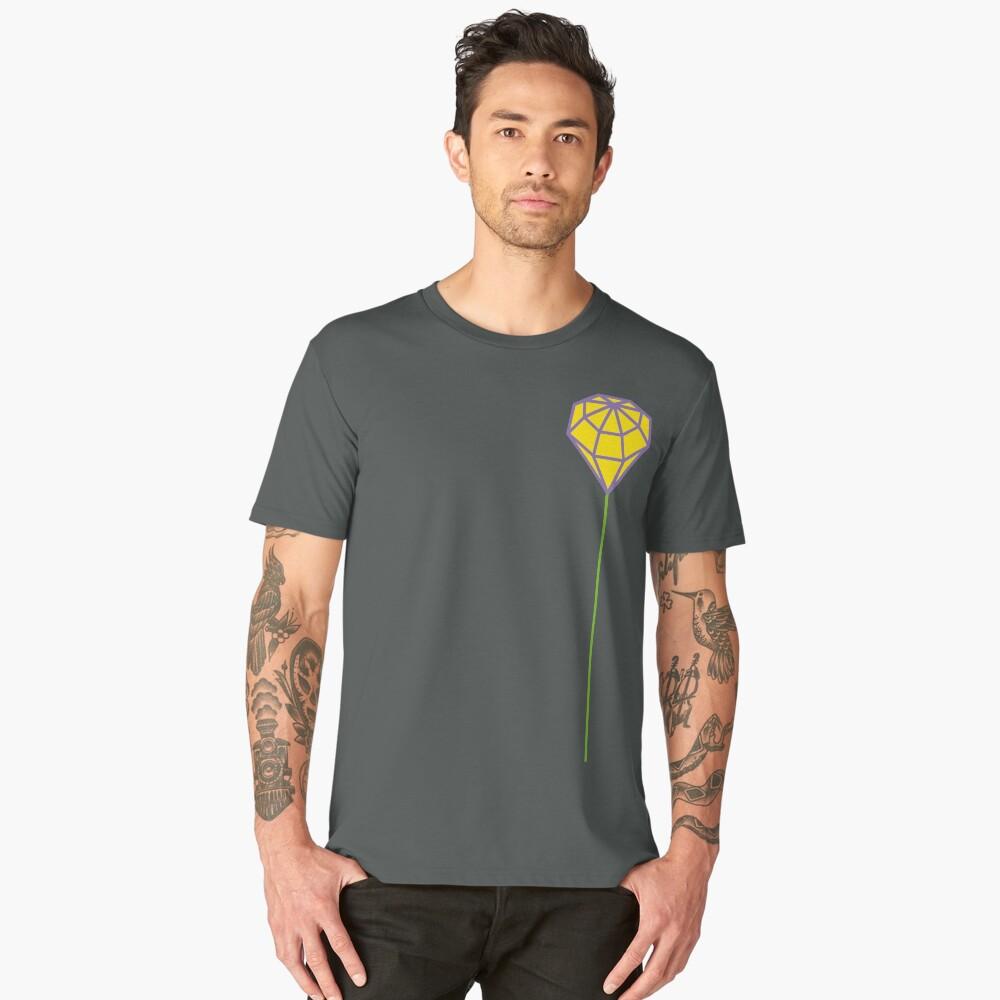 Buttonhole (purple and yellow) Men's Premium T-Shirt Front