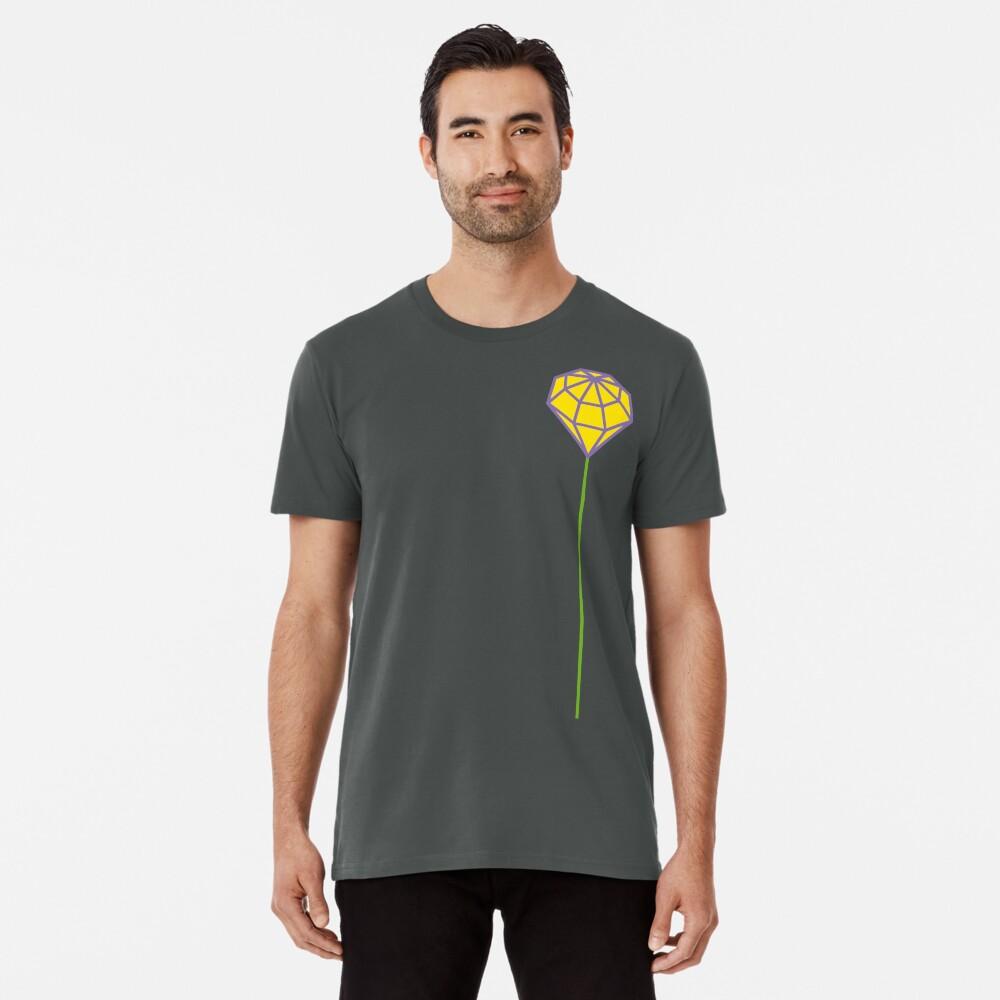 Buttonhole (purple and yellow) Premium T-Shirt