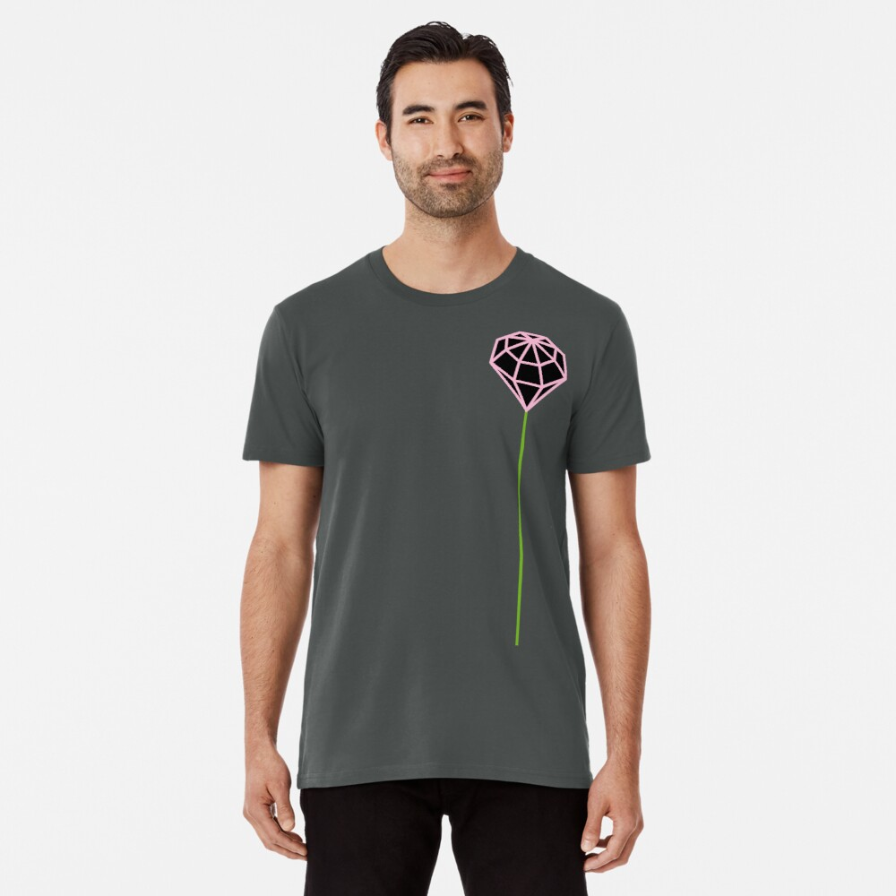 Buttonhole (black and pink) Premium T-Shirt