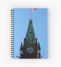 Ottawa Parliament Clock Tower Detail Spiral Notebook