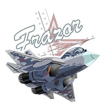 Cartoon modern fighter plane by Mechanick